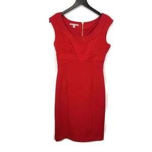 Maggy London Red Cap Sleeve Sheath Dress Size 8